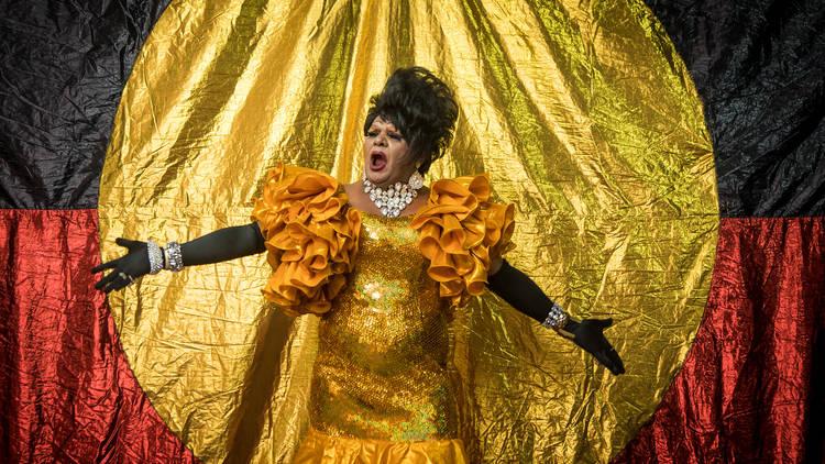 Koori Gras 2017 opening night at 107 Projects Redfern photo 01 feat Nana Miss Koori (c) Time Out Sydney photographer credit Anna Kucera