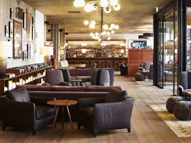 The lobby of The Hoxton, Holborn in London