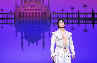 Adam Jacobs in the Broadway production of Disney's Aladdin