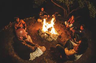 Dreamtime Stories Around a Campfire