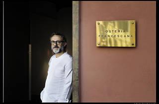 Massimo Bottura outside his restaurant Osteria Francescana