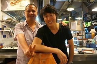 Chef Daniel and chef Seita