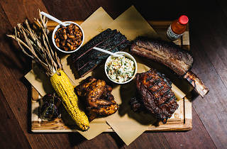 Smoked meats plate at the Erko