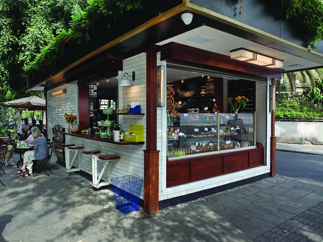 Grab coffee at a local kiosk