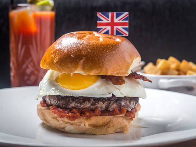 The Clocktower brunch burger