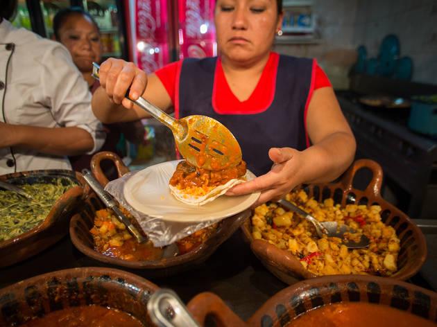Tacos de longaniza poblana