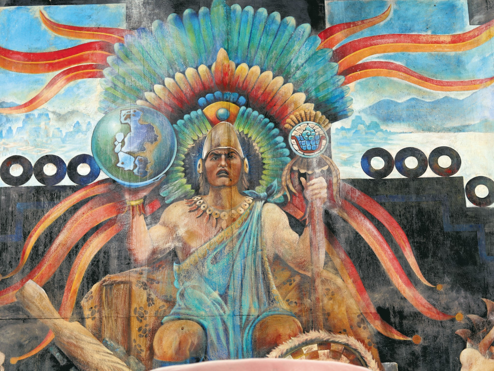 Mural de Cuitláhuac en Iztapalapa