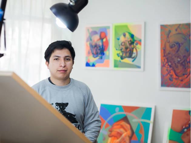 Smithe, uno de los artistas urbanos de Iztapalapa
