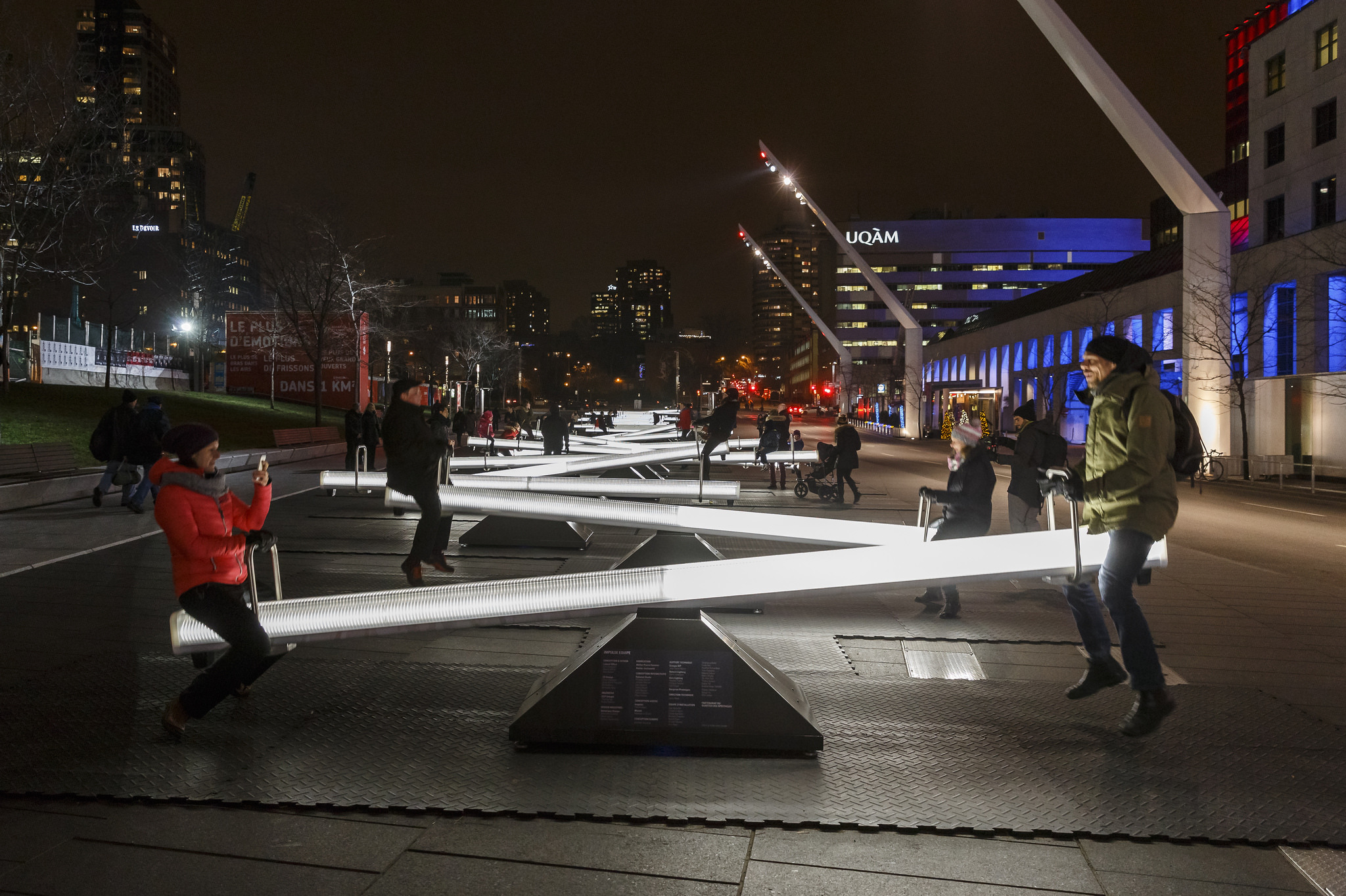 Get ready to ride on illuminated seesaws at Navy Pier