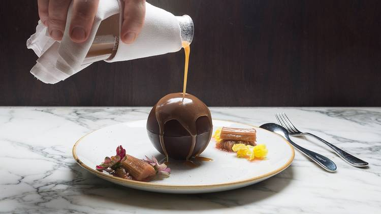 Chocolate dessert at Alluvial