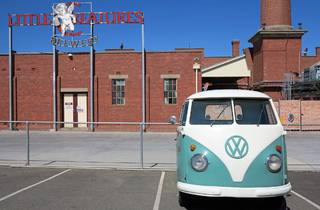 Brewery exterior and van at Little Creatures road trip