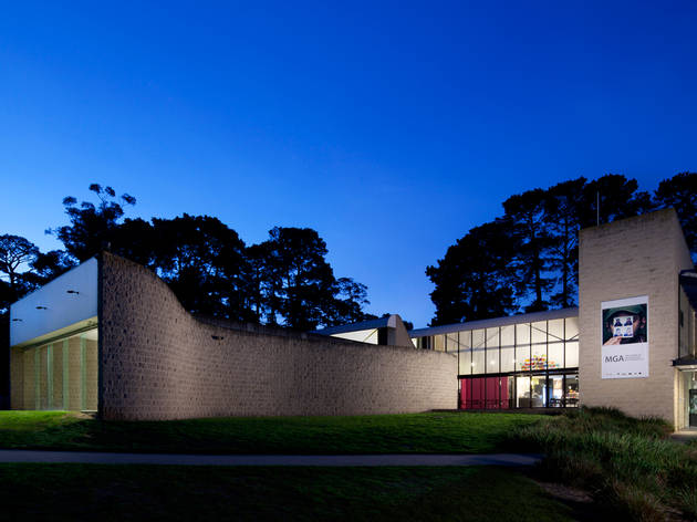 Monash Gallery of Art 2013 exterior twilight image courtesy MGA 2016