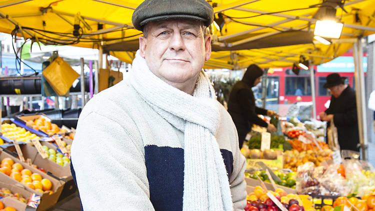 Mick Pryke, greengrocer on Hildreth Street