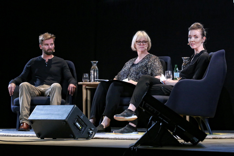 Tom Stranger, Ann Mossop, Thordis Elva in South of Forgiveness