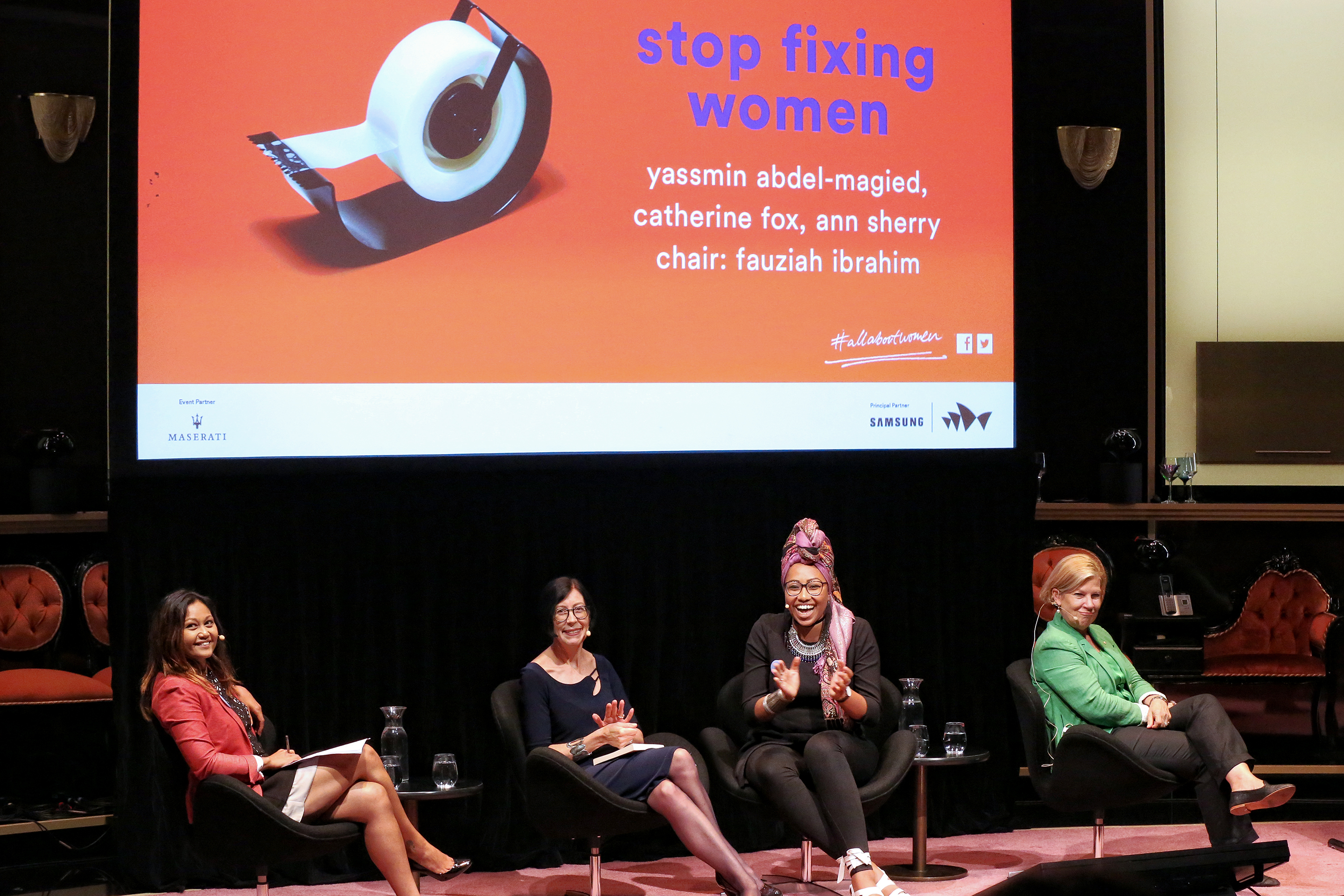 Stop Fixing Women panel talk at All About Women