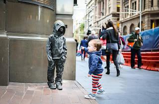 Bronze sculpture of child