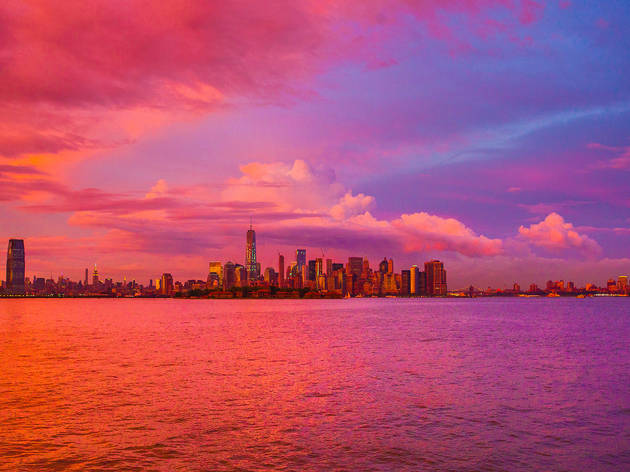 Watch the sunset from a private cruise along the Hudson River