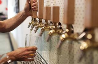 Beer taps at Tallboy and Moose