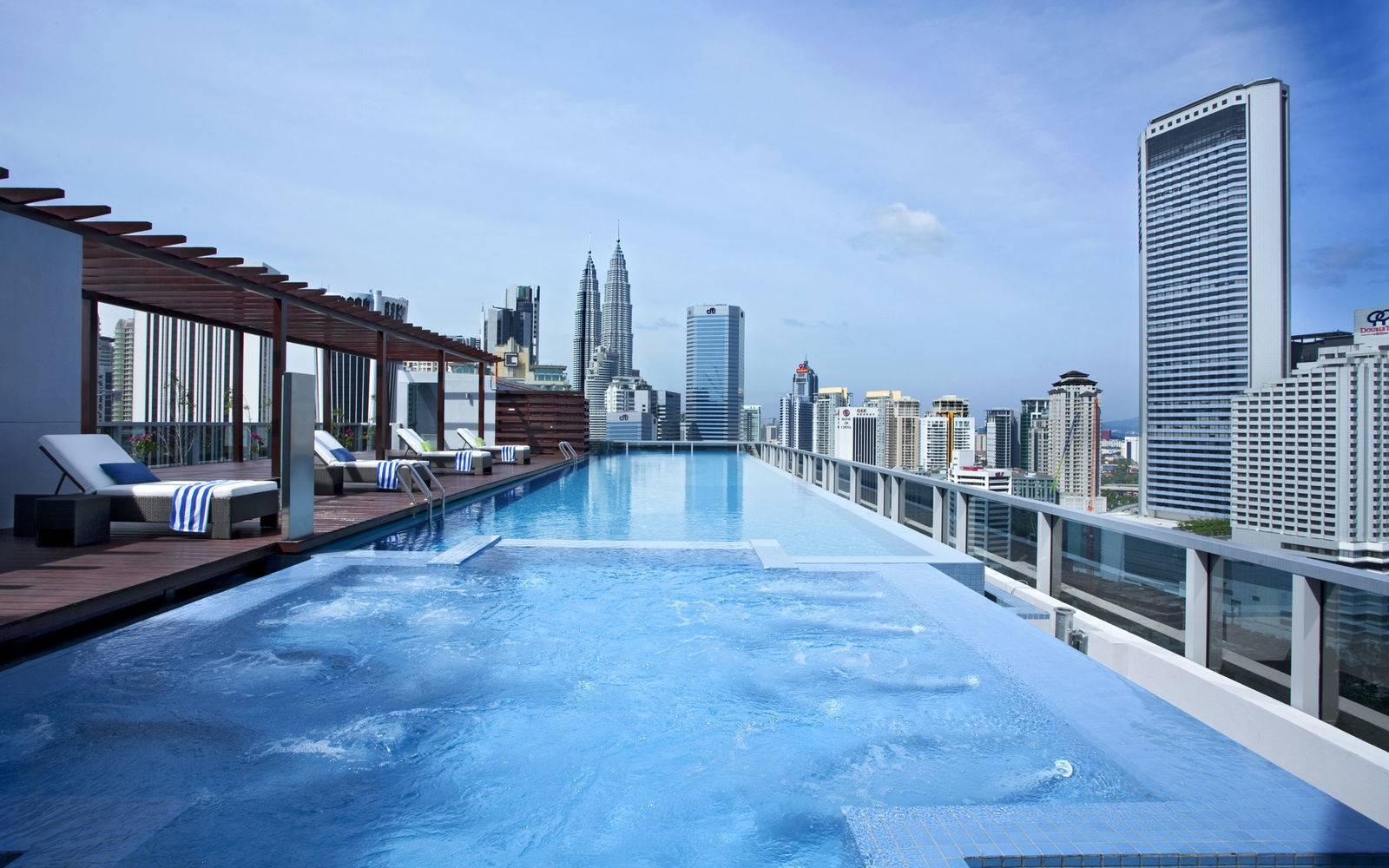 Somerset rooftop pool