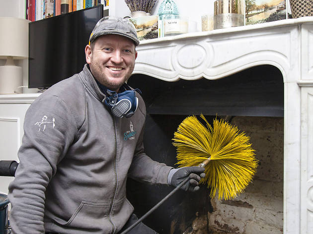 Ed Wilson, chimney sweep