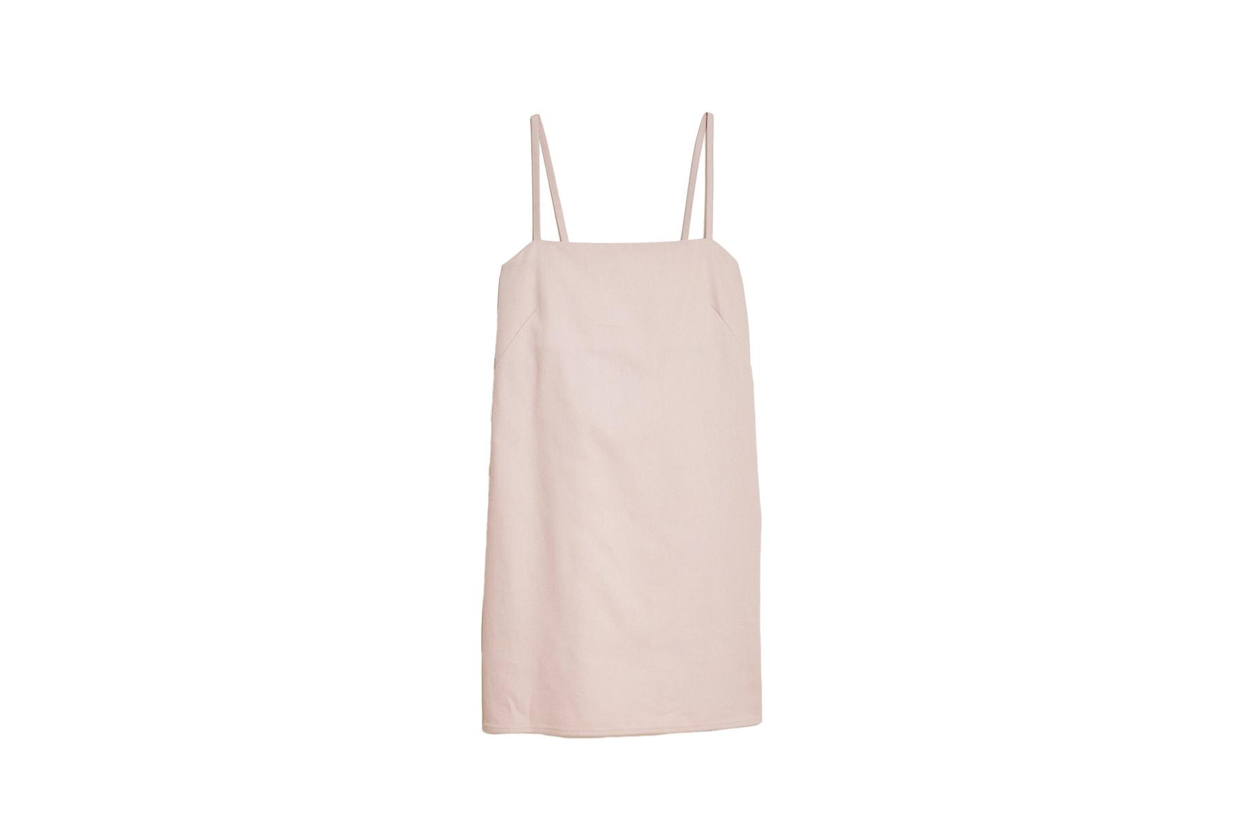 Joni short dress in pink twill