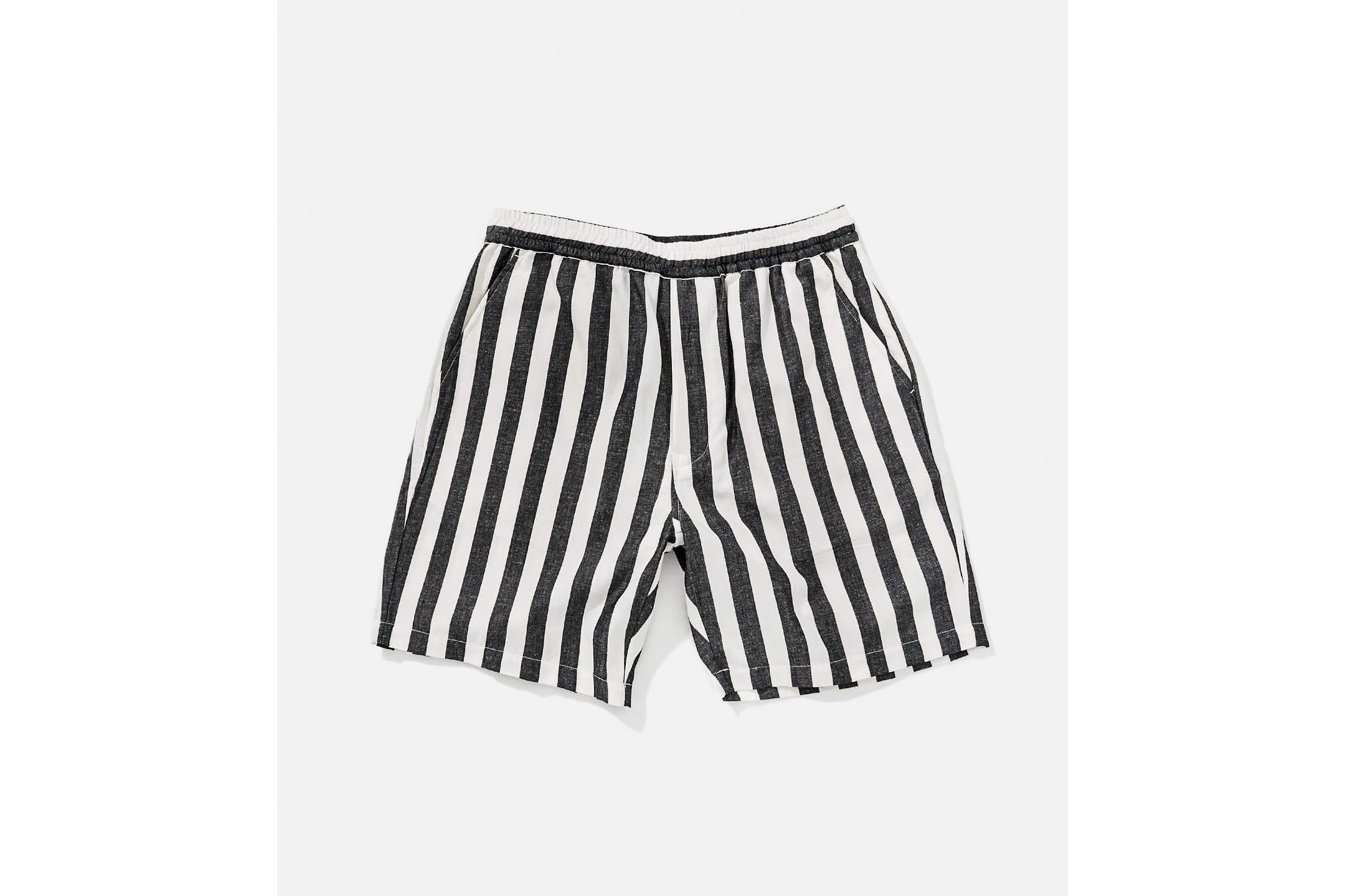Keigo jumbo stripe shorts