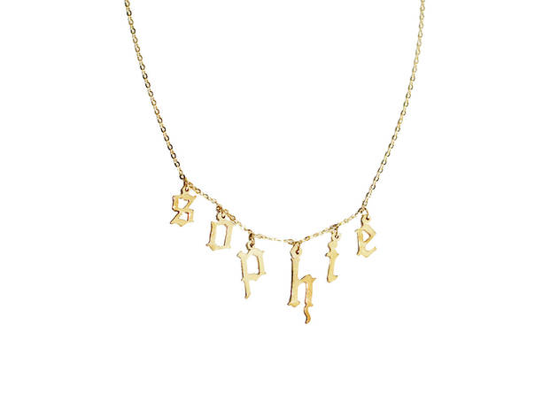 Danielle Guizio x  The M Jewelers gothic choker necklace