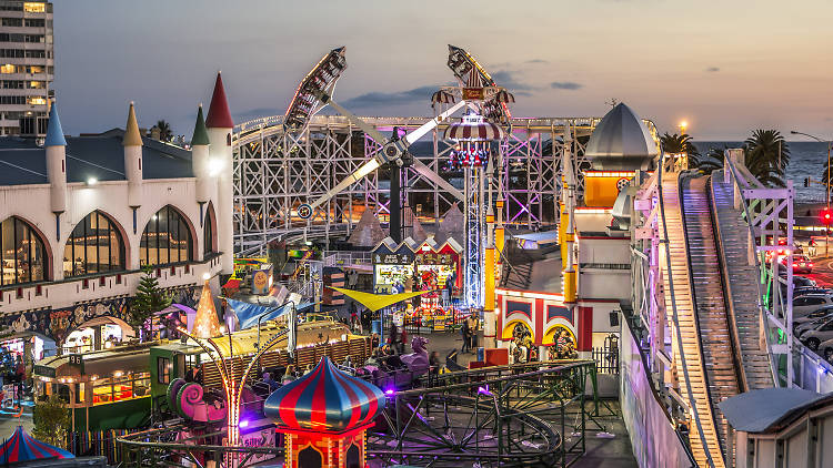 Luna Park in the evening