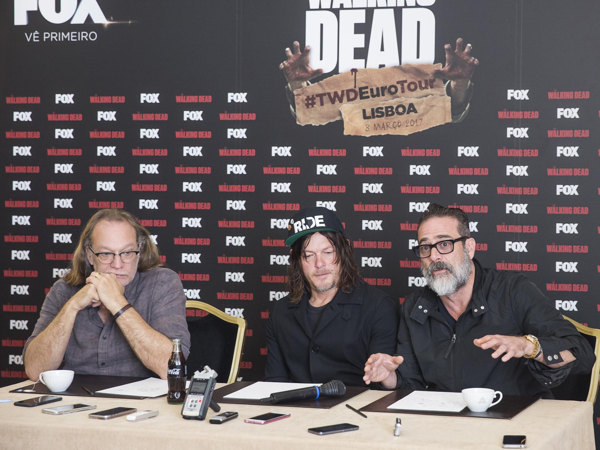The Walking Dead: o que desvendaram Reedus, Morgan e Nicotero em Lisboa