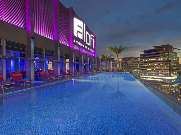 Aloft KL Sentral rooftop pool