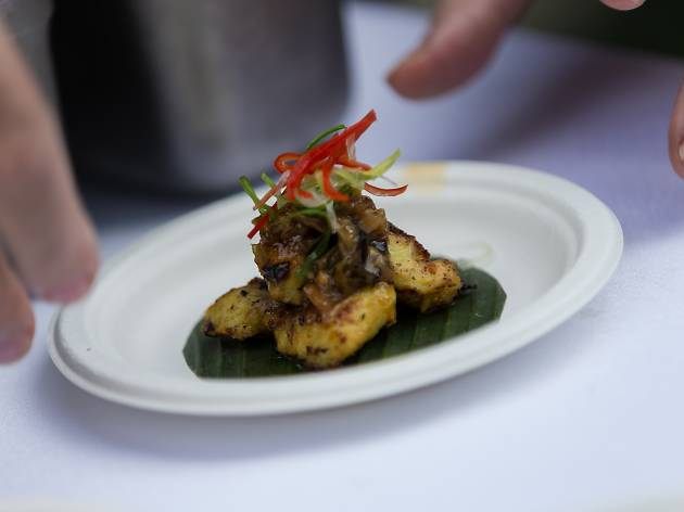 Kaum: Pan-fried eel served with green chilies relish