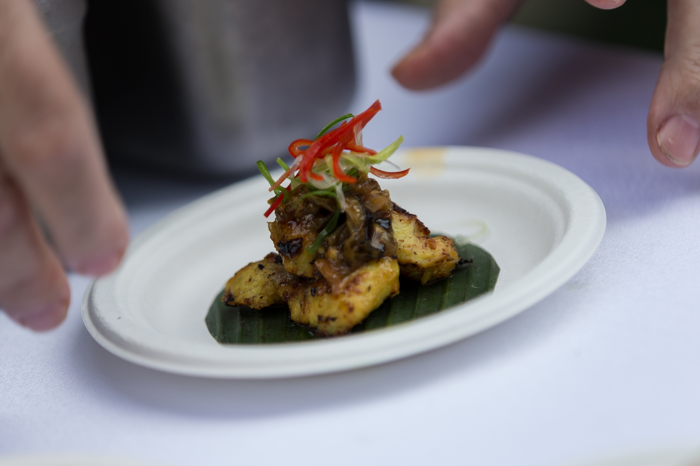 Belut Sambal Hijau - Pan fried eel served with green chilies relish - Kaum