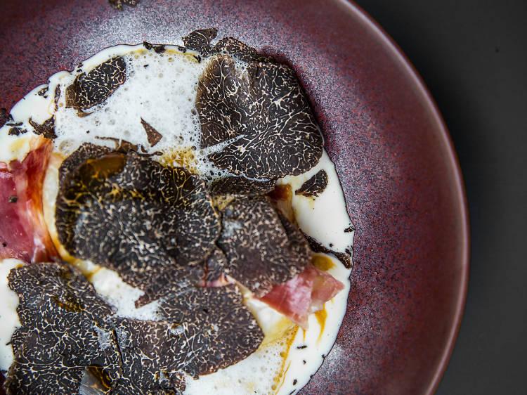 Kei: Gnocchi with black truffle and Iberico ham