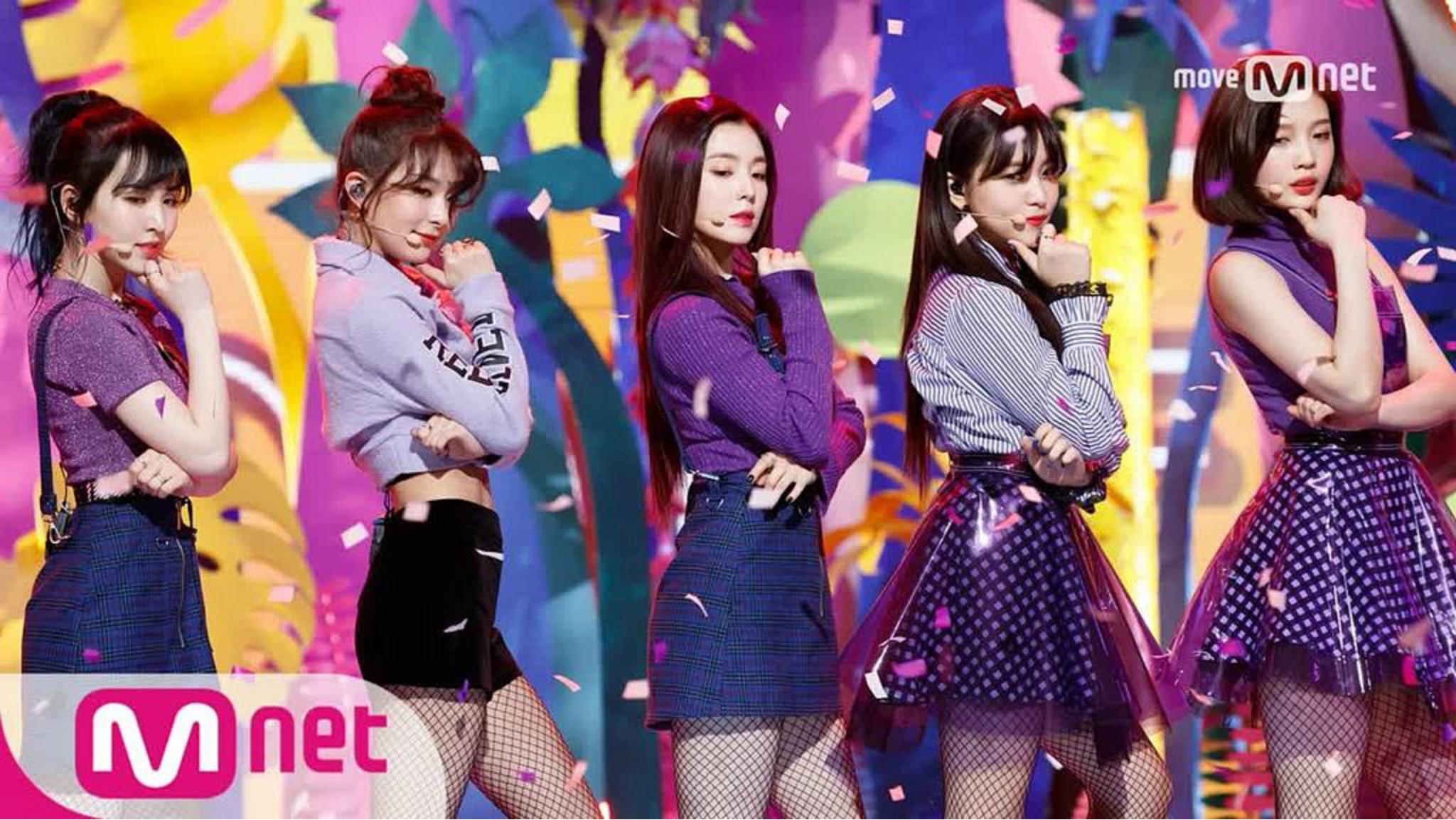 grupo Red Velvet en presentación