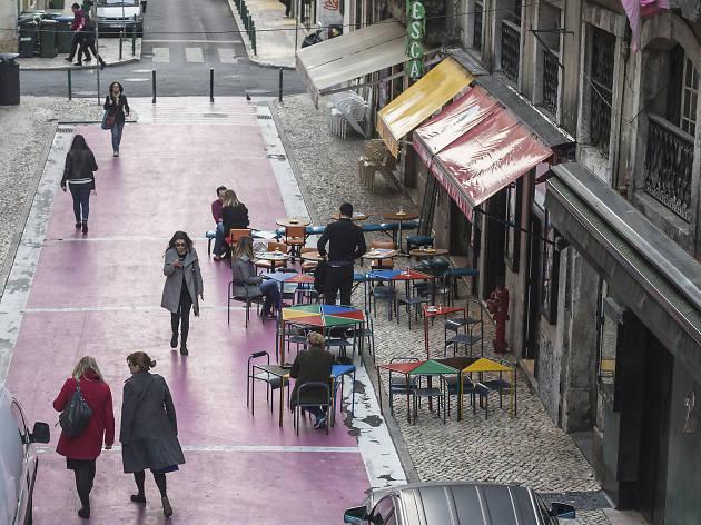 rua rosa dia