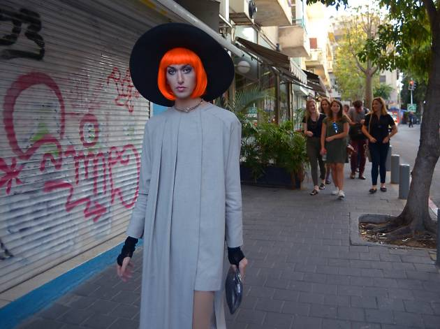 Local drag queen personality Nona Chalant brings her signature flair to stylish tours around Tel Aviv