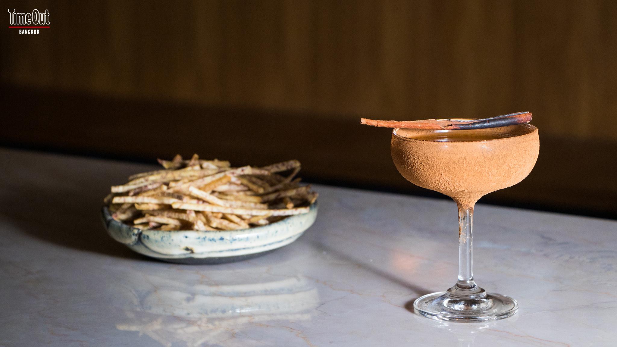 banana, cocktail at Ku Bar