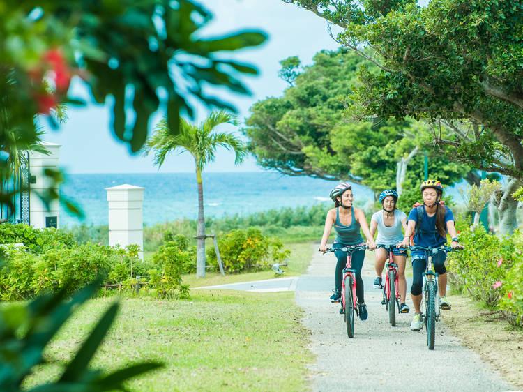 EXTRA TIP: Hop on a bike...