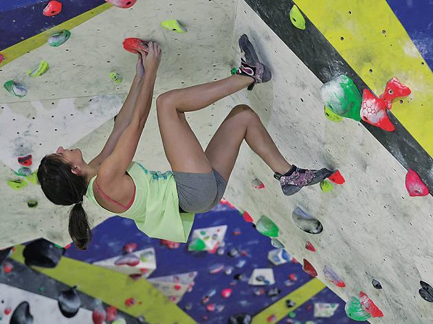 Sharma climbing