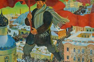 Boris Kustodiev, The Bolshevik (detail), 1920. Oil on canvas, 101 x 140.5 cm. State Tretyakov Gallery, Moscow. Photo © State Tretyakov Gallery.