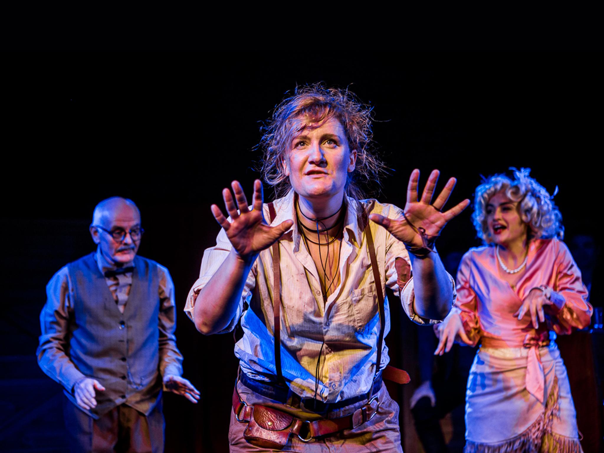 Calamity Jane 2017 Hayes Theatre production still 01 feat Tony Taylor Virginia Gay Sheridan Harbridge photographer credit John McRae