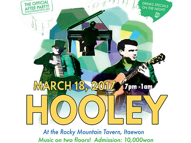 St. Patrick's Day Hooley @ Rocky Mountain Tavern, Itaewon