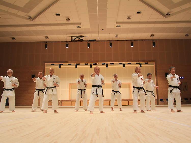 Study the secrets of karate...