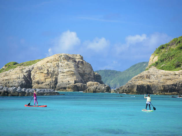 Paddle on the turquoise waves...