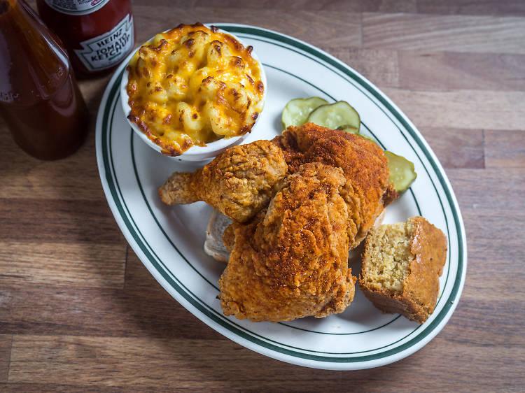 New York, NY: Extra-hot fried chicken at Peaches Hothouse