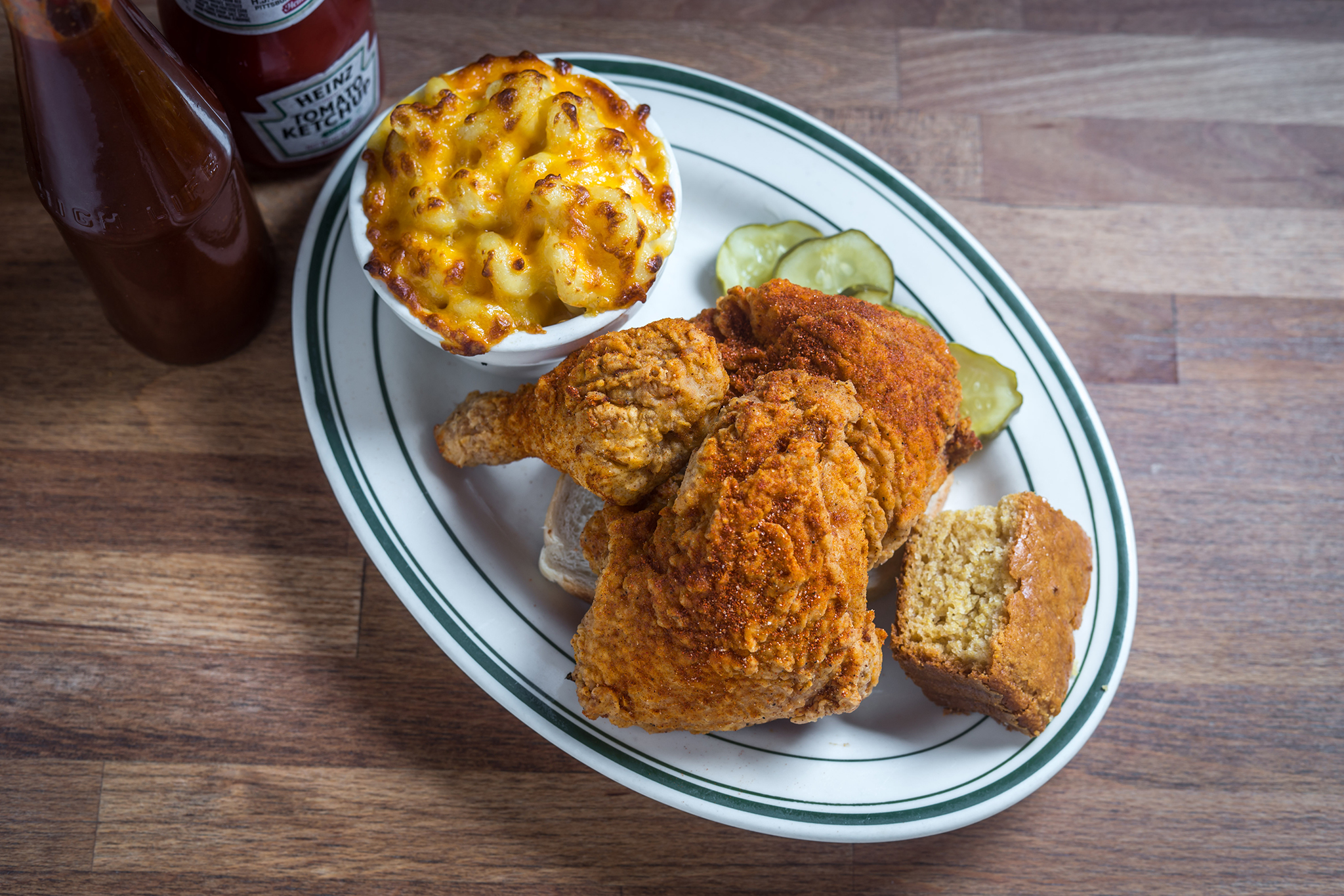 Nashville-Style Extra Hot Fried Chicken, Peaches HotHouse