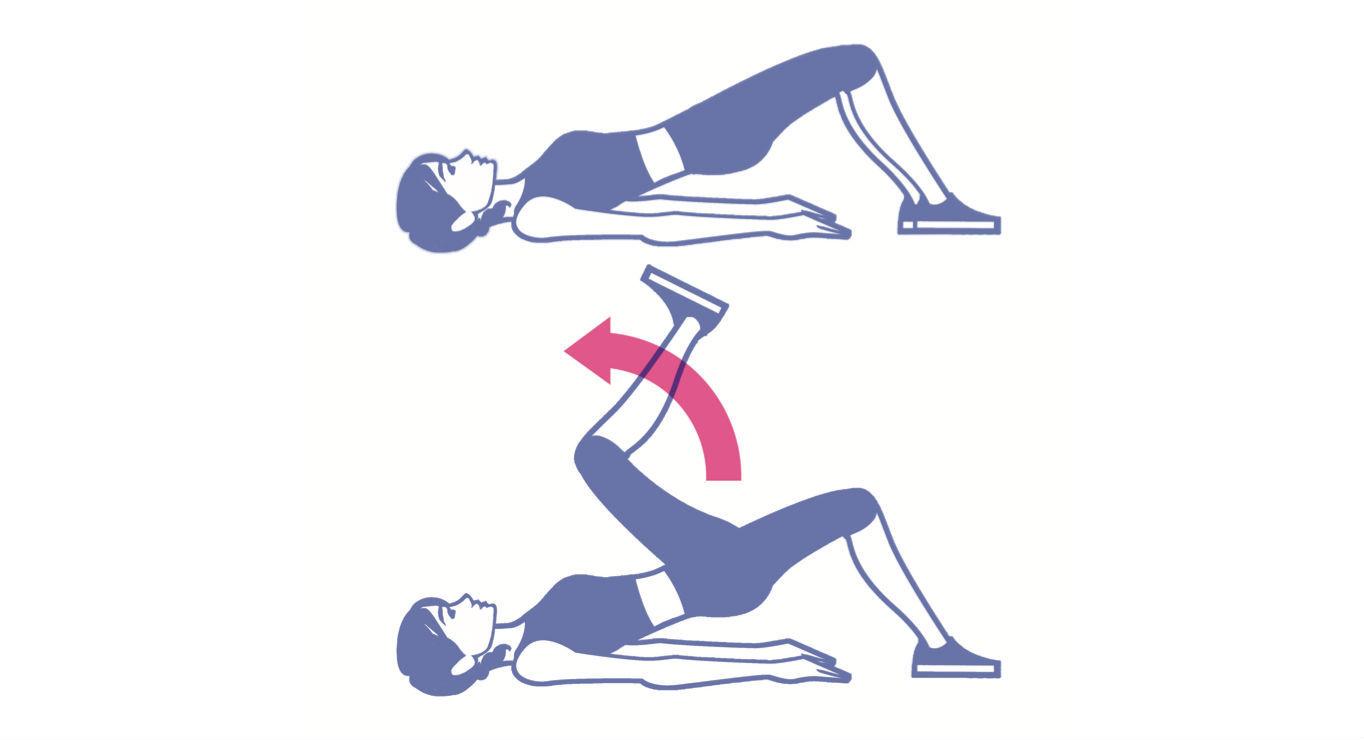 Elevación de cadera en marcha