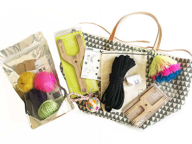 Essential craft tool and kits with hand-printed tote from Loome $129