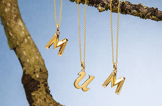 Time Out London Studio Gift Guide Still Life Jewellery Mothers Day Mum, Alphabet pendant and rolo chain from Selfridges, mother's day gift guide