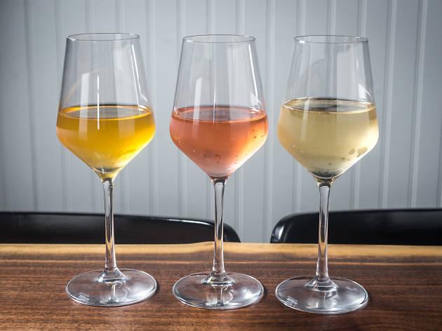Wine glasses at Denizen